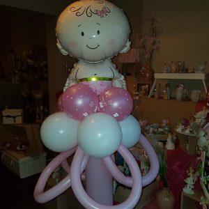 Ballon Ballonnen baby roze meisje babyborrel doop Sint-Truiden Hoeselt