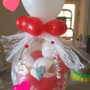 Ballon Ballonnen geschenk huwelijk harten geld Sint-Truiden Hoeselt