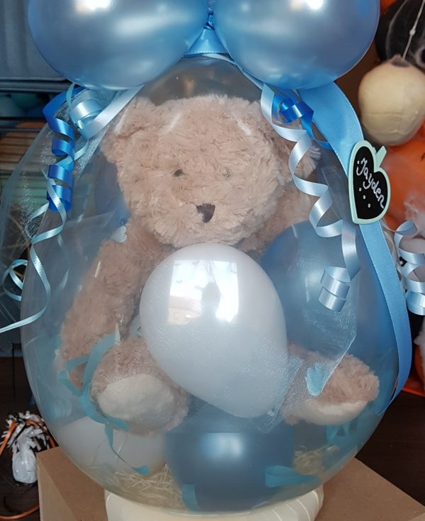 Ballon Ballonnen geschenk geboorte babyborrel blauw jongen Sint-Truiden Hoeselt