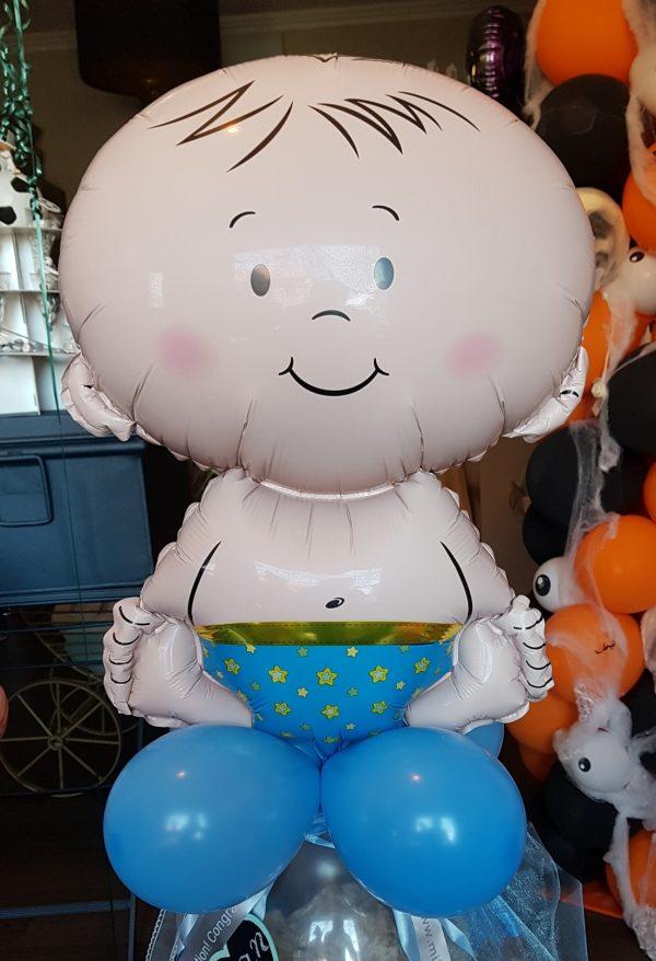 Ballon Ballonnen geschenk geboorte babyborrel blauw baby jongen Sint-Truiden Hoeselt