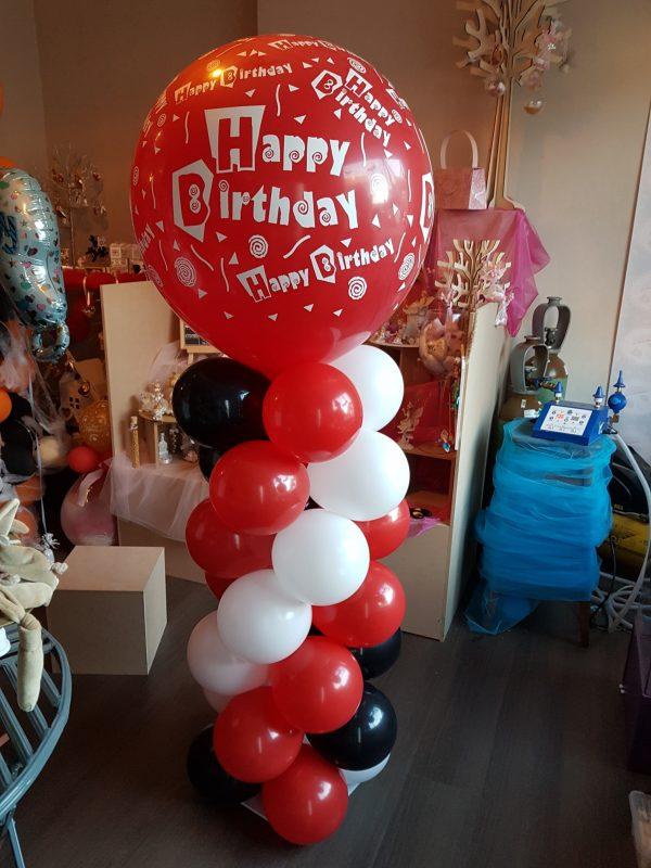 Ballon Ballonnen geschenk decoratie verjaardag happy birthday pilaar Sint-Truiden Hoeselt