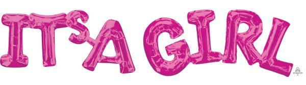 Ballon Ballonnen geboorte roze it's a girl Sint-Truiden Hoeselt
