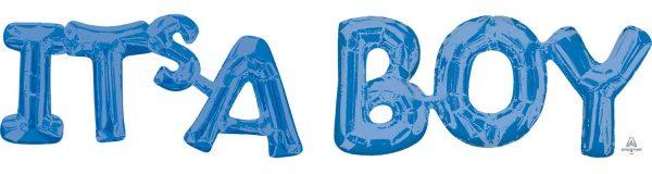 Ballon Ballonnen geboorte blauw it's a boy Sint-Truiden Hoeselt