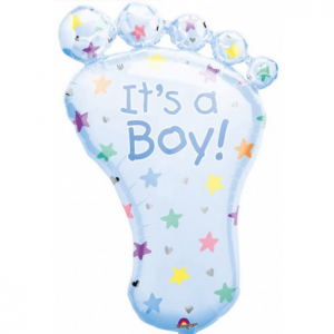 Ballon Ballonnen geboorte blauw it's a boy voet Sint-Truiden Hoeselt