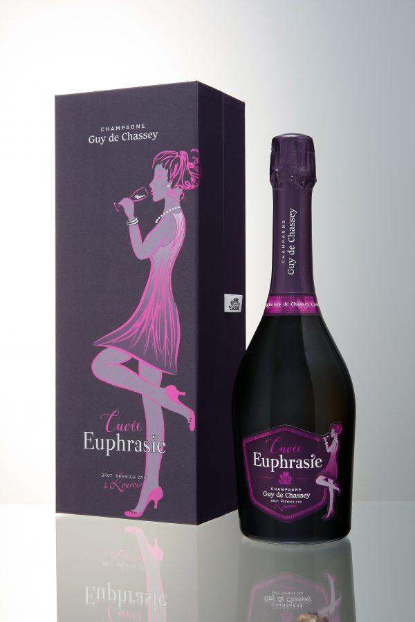 cadeaubox champagne Euphrasie - Guy de chasset champagne hoeselt sint-truiden